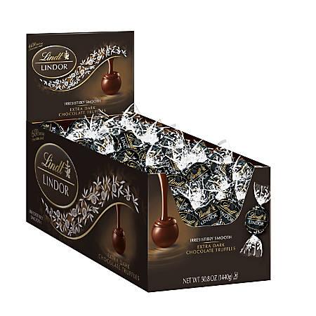 Lindt Lindor 60% Extra-Dark Chocolate Truffles, Box Of 120