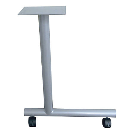 "Lorell C-Leg Training Table Base, 27""H x 1.50""W x 22""D"