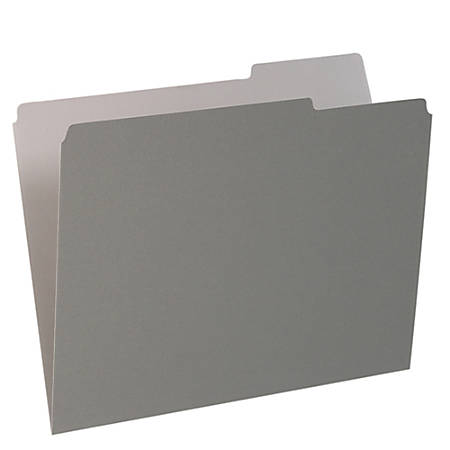 Pendaflex® 1/3-Cut Color Interior Folders, Letter Size, Gray, Box Of 100