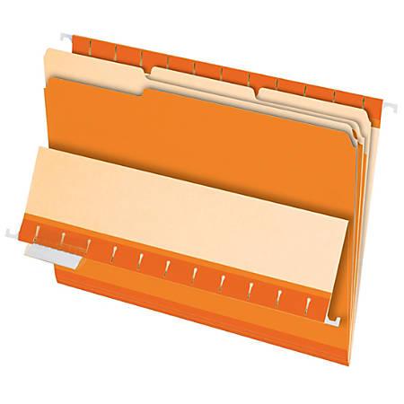 Pendaflex® 1/3-Cut Color Interior Folders, Letter Size, Orange, Box Of 100
