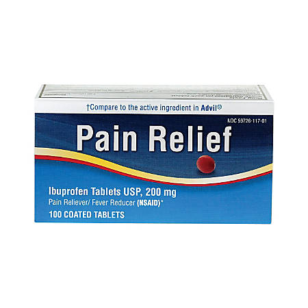 Medline Ibuprofen Tablets, 200mg, Pack Of 100