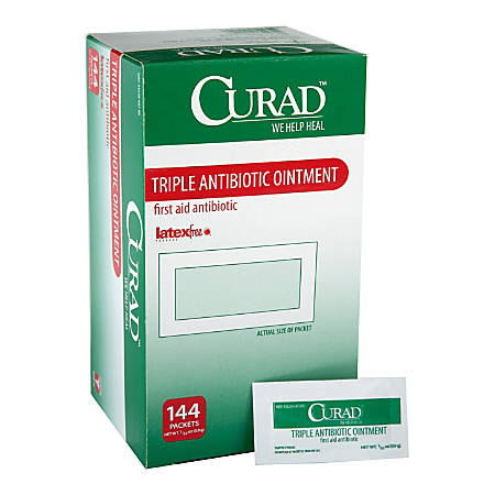 Curad Triple Antibiotic Ointment, .9G Packet, 144/Bx