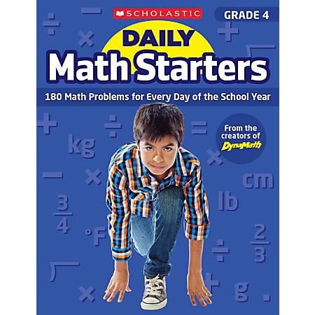 Scholastic Teacher Resource Daily Math Starters, Grade 4