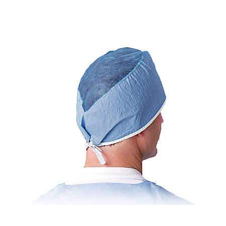 Medline Surgeon's Caps, One Size, Blue, Box Of 100