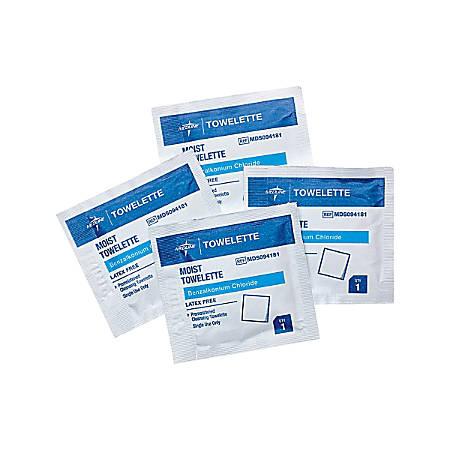 Medline Benzalkonium Chloride Towelettes, Case Of 1,000