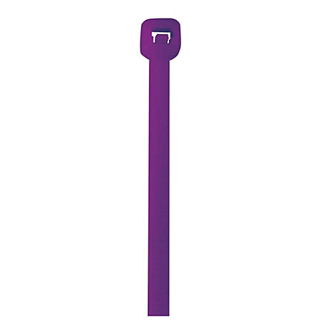 """Office Depot® Brand Color Cable Ties, 14"""", Purple, Case Of 1,000"""