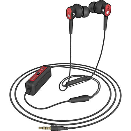 Spracht Konf-X Buds In-Ear Headset - Stereo - Wired - 32 Ohm - 20 Hz - 20 kHz - Earbud - Binaural - In-ear - Noise Canceling - Red