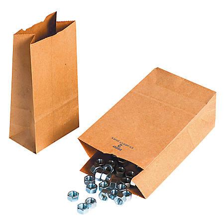 "Partners Brand Hardware Bags, 9 3/4""H x 5""W x 3 1/4""D, Kraft, Case Of 500"