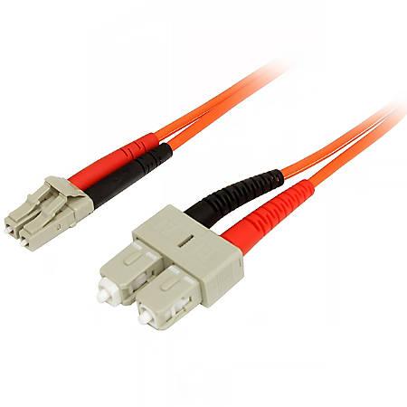 StarTech.com 2m Fiber Optic Cable - Multimode Duplex 50/125 - LSZH - LC/SC - OM2 - LC to SC Fiber Patch Cable
