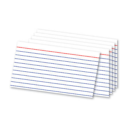 """Office Depot® Brand Index Cards And Tray Set, 3"""" x 5"""", White, Pack Of 180 Cards"""