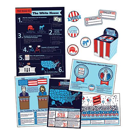 Carson-Dellosa Road To The White House Bulletin Board Set, Multicolor, Grades K-8