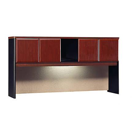 """Bush Business Furniture Office Advantage Hutch 72""""W, Hansen Cherry/Galaxy, Premium Installation"""