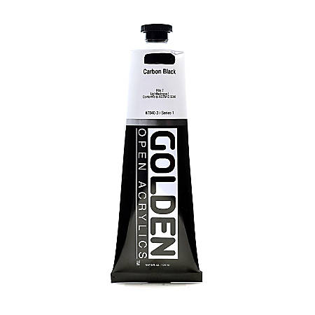 Golden OPEN Acrylic Paint, 5 Oz Tube, Carbon Black
