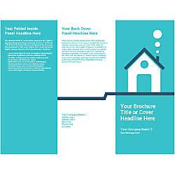 Customizable Trifold Brochure Teal House