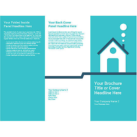 Customizable Trifold Brochure, Teal House