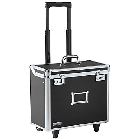 "Vaultz® Mobile Catalog Case, 13 1/2""H x 16 3/4""W x 9 3/4""D, Black"