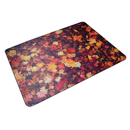 "ColorTex Polycarbonate Chair Mat, 36"" x 48"", Autumn Leaves"