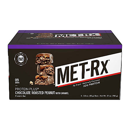 MetRX Protein Plus Chocolate Roasted Peanut with Caramel, 3 oz, 9 Count