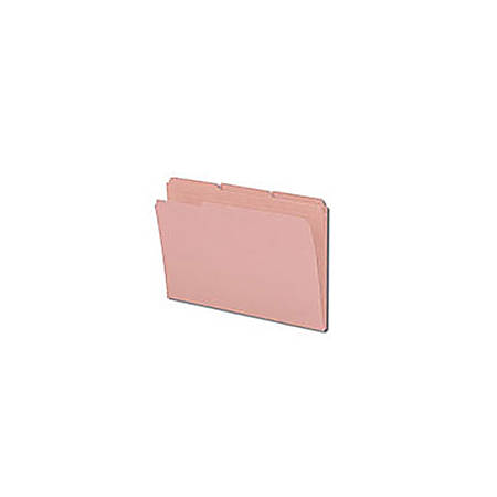 Smead® 1/3-Cut 2-Ply Color File Folders, Legal Size, Pink, Box Of 100