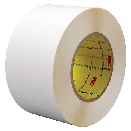 """3M™ 9579 Double-Sided Film Tape, 3"""" Core, 2"""" x 108', White, Case Of 2"""