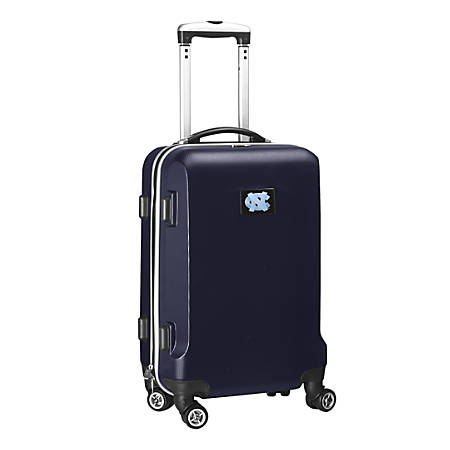 "Denco Sports Luggage NCAA ABS Plastic Rolling Domestic Carry-On Spinner, 20"" x 13 1/2"" x 9"", North Carolina Tar Heels, Navy"