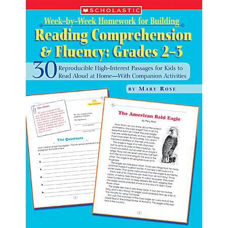 Scholastic Week-by-Week Homework For Building Reading Comprehension & Fluency — Grades 2-3