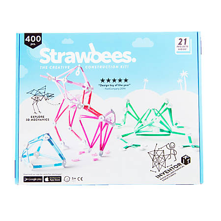 Strawbees 400-Piece Inventor Kits, Case Of 20