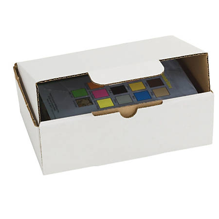 """Duck® Self-Locking Mailing Boxes, 9 1/2"""" x 6 1/2"""" x 3 1/4"""", White, Pack Of 25"""