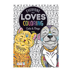Bendon Adult Coloring Book Cats Dogs