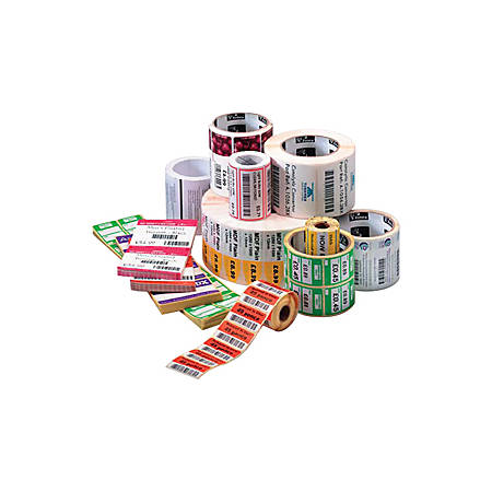 "Zebra Label Paper, U82357, 2 1/4"" x 3/4"" Thermal Transfer Zebra Z™Select 4000T, 1"" Core"