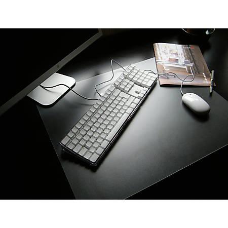 "Floortex Desktex PVC Smooth-Back Desk Mats, 17"" x 22"", Clear, Pack Of 4"