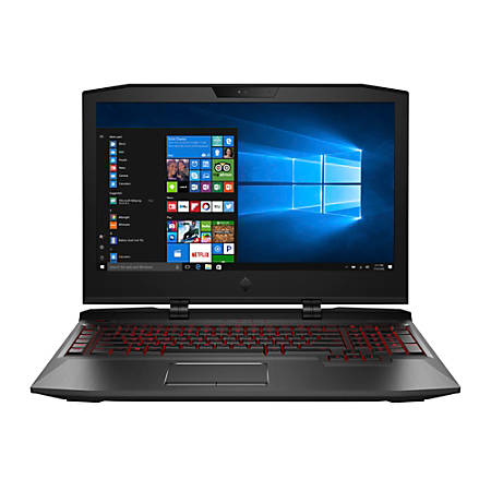 "HP OMEN X 17-ap010nr Laptop, 17.3"" Screen, 7th Gen Intel® Core™ i7, 16GB Memory, 1TB Hard Drive/256GB Solid State Drive, Windows® 10 Home"