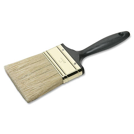 SKILCRAFT® Professional Grade Multipurpose Paint Brush, 26, Flat Bristle, Natural, Ebony (AbilityOne 8020-01-596-4248)