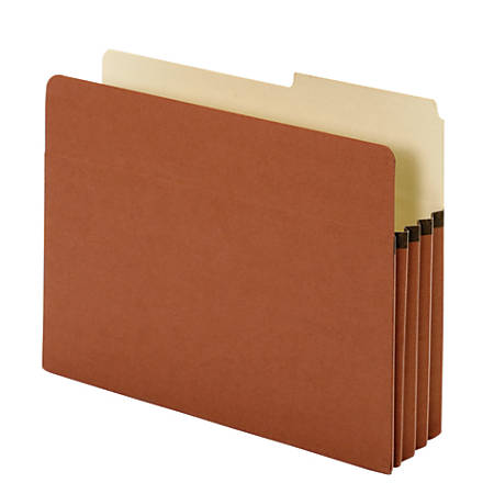 """Pendaflex® Redrope Expanding File Pockets, 3 1/2"""" Expansion, Letter Size, Brown, Box Of 25 File Pockets"""