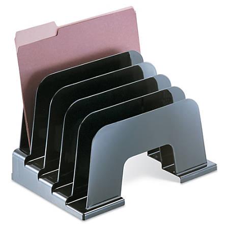 Office Depot® Brand 30% Recycled Large Incline Desktop Sorter, Black