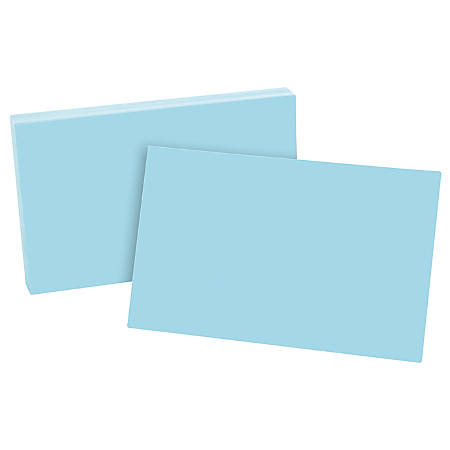 """Esselte® Color Blank Index Cards, 5"""" x 8"""", Blue, Pack Of 100"""