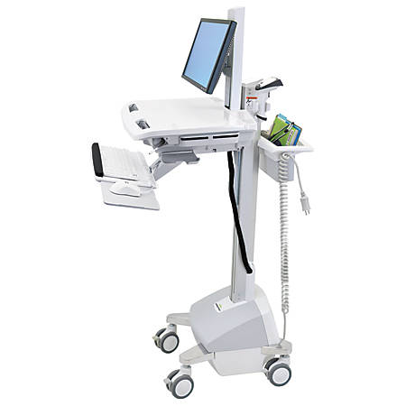 Ergotron StyleView EMR Cart with LCD Pivot, LiFe Powered