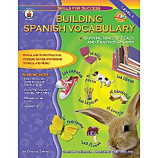 Carson Dellosa Building Spanish Vocabulary