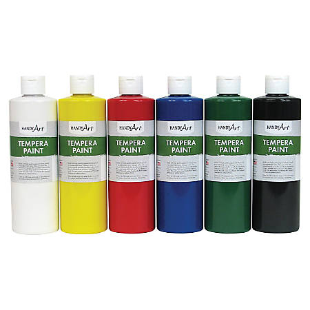 Handy Art Matte Tempera Paint - 6 / Set - Assorted