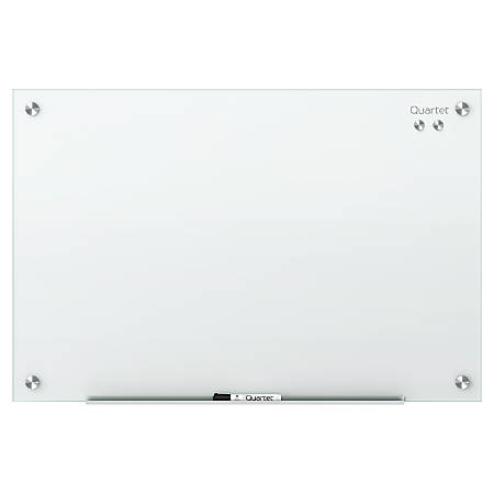 "Quartet® Infinity™ Magnetic White Glass Frameless Dry-Erase Board, 48"" x 36"""