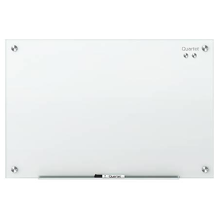 """Quartet® Infinity™ Magnetic White Glass Frameless Dry-Erase Board, 72"""" x 48"""""""