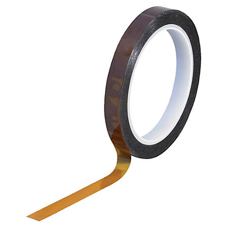 """Kapton® Sealing Tape, 3"""" Core, 0.5"""" x 108', 1 mil, Amber"""