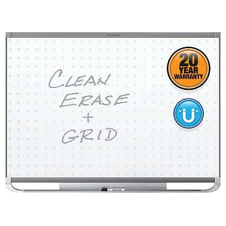 "Quartet® Prestige® 2 Magnetic Total Erase® Whiteboard, Graphite Frame, 36"" x 24"""