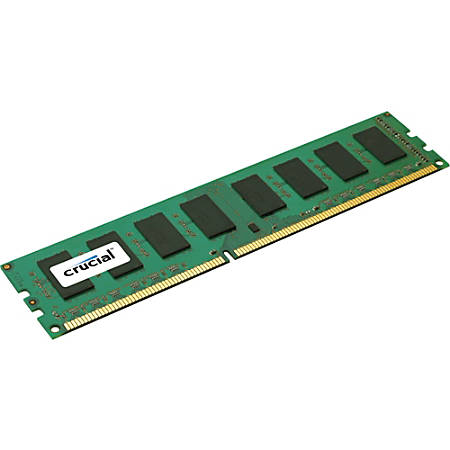 Crucial 4GB, 240-pin DIMM, DDR3 PC3-12800 Memory Module - For Server - 4 GB - DDR3-1600/PC3-12800 DDR3 SDRAM - CL11 - 1.35 V - ECC - Unbuffered - 240-pin - DIMM