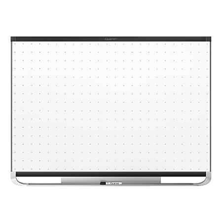 "Quartet® Prestige® 2 Magnetic Total Erase® Whiteboard, Black Aluminum Frame, 72"" x 48"""