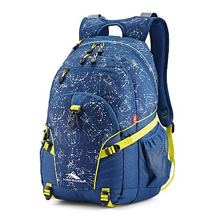 High Sierra Space Creatures Loop Backpack, Rustic Blue Glow