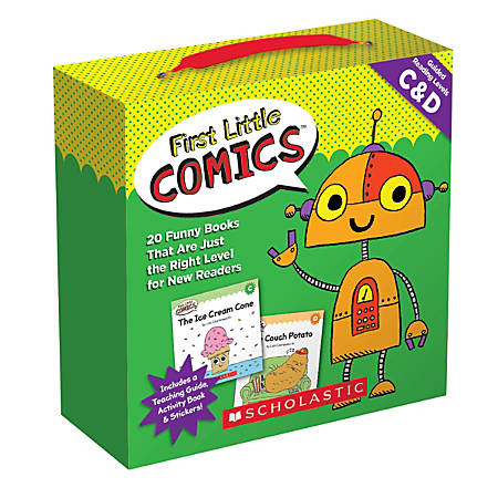 Scholastic Teacher Resources First Little Comics Parent Pack, Levels C & D, Pre-K To 2nd Grade, Set Of 20