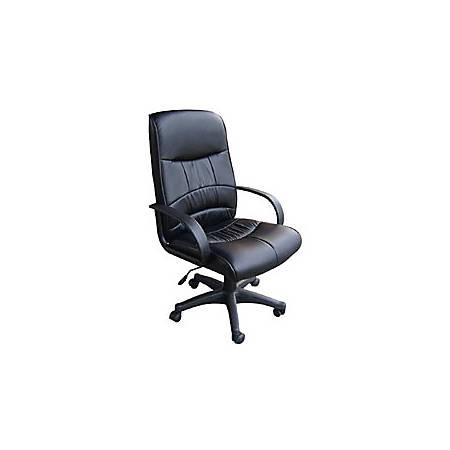 "OFM Mid-Back Leatherette Chair, 41""H x 26""W x 22""D, Black Frame"