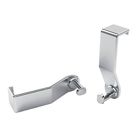 Quartet® Prestige® 2 Connects™ Flipchart Hooks, Silver, Pack Of 2