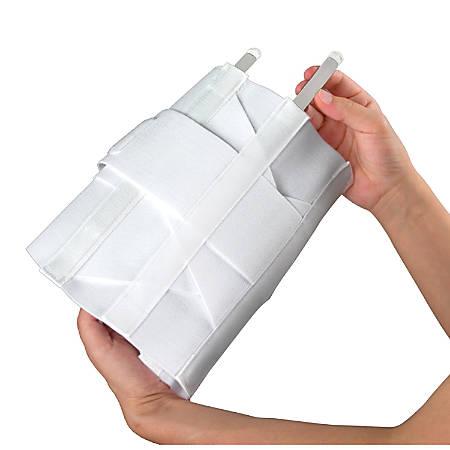 DMI® Adjustable Lumbar Support Back Brace, Large, White